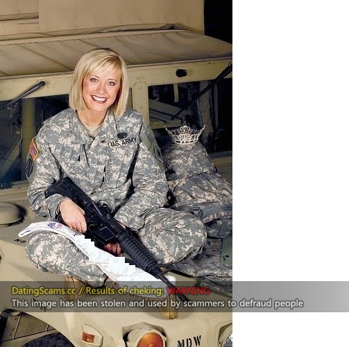 Scammers us photos army Military romance